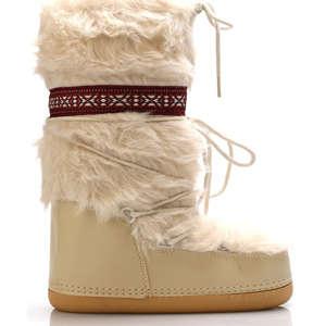 Béžové chlupaté sněhule Claudia Ghizzani 593c686224
